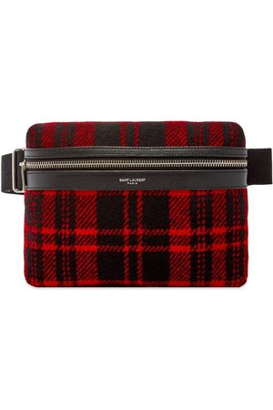Saint Laurent City Pouch Tartan Cross-Body Bag
