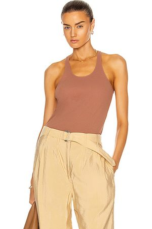 LEMAIRE Jersey Tank Top in Terracotta