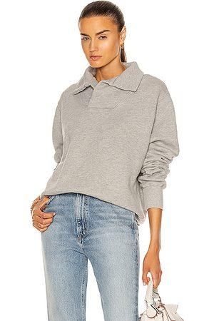 Les Tien Yacht Pullover Sweatshirt in Heather Grey