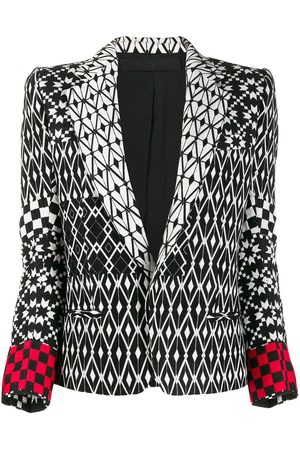 Haider Ackermann Pattern mix blazer