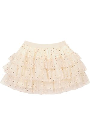 BONPOINT Sosso embroidered tulle skirt