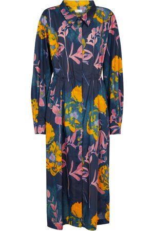 DRIES VAN NOTEN Printed cotton midi dress