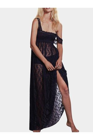 YOINS Maxi Lace Dress With Square Neck
