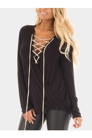YOINS Lace-up Front Crossover Top