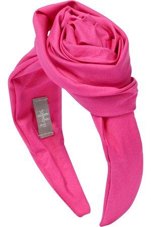 Il gufo Floral stretch-cotton headband