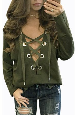 Yoins Lace-up Front Design Casual Top in