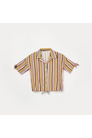 Fame Forever Young Girls Striped Shirt Style Top