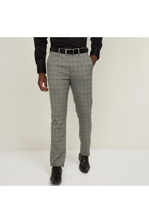 Louis Philippe Men Textured Slim Tapered Formal Trouser