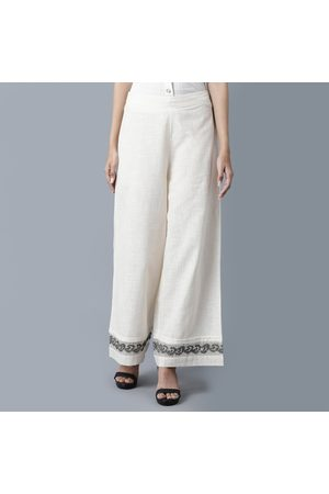 W Omen Embroidered Elasticated Palazzos
