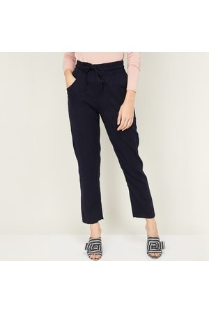 AND Women Solid Elasticated Pants
