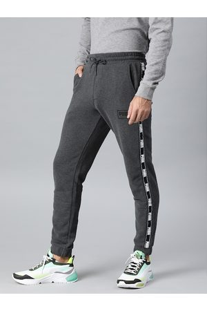 PUMA Men Grey Solid Straight Fit Holiday Pack Joggers
