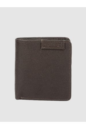 Hidesign Men Brown Textured Leather Two Fold Wallet