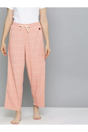 Chemistry Women Pink Striped Cropped Lounge Pants