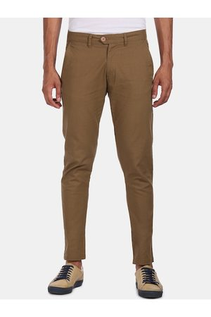 Ruggers Men Brown Regular Fit Solid Chinos
