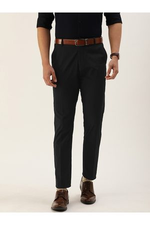 SELECTED Men Black Slim Fit Solid Formal Trousers