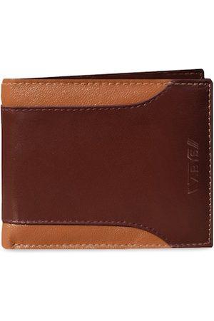 ABYS Men Tan Colourblocked Two Fold Wallet