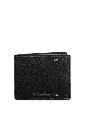 ABYS Men Black Textured Two Fold Wallet