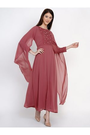 Texco Women Pink Solid Maxi Dress