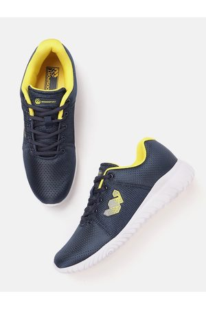 Woodland Men Teal Blue Woven Design Sports Shoes