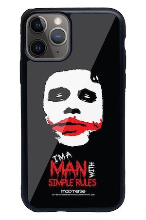 macmerise Black & Red Man With Simple Rules iPhone 11 Pro Back Case