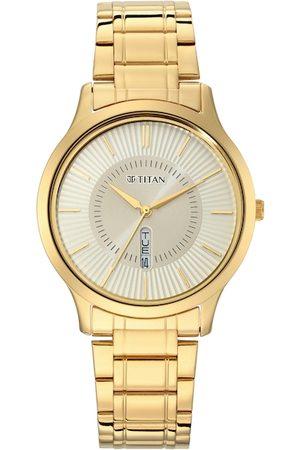 Titan Men Champagne Analogue Watch 1845YM01