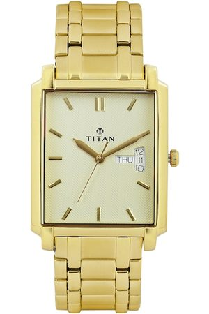Titan Men Muted Gold-Toned Dial Watch NF1506YM02