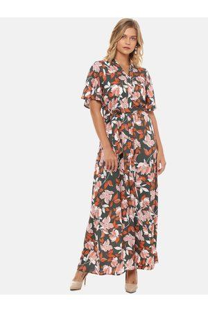 Campus Sutra Women Multicoloured Printed Maxi Dress