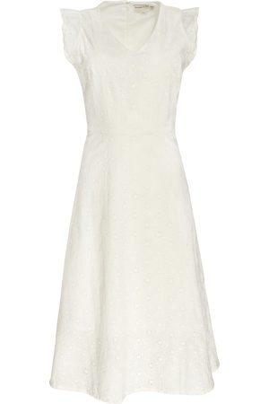 People Tree Jessica Broderie Dress In White 10