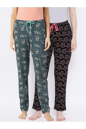 Kanvin Women Pack of 2 Printed Lounge Pants