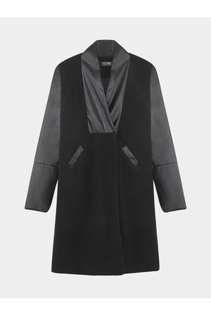 YOINS Loneline Tailored Duster Coat with PU Sleeves