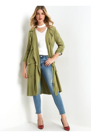 YOINS Army Double-Breasted Trench Coat