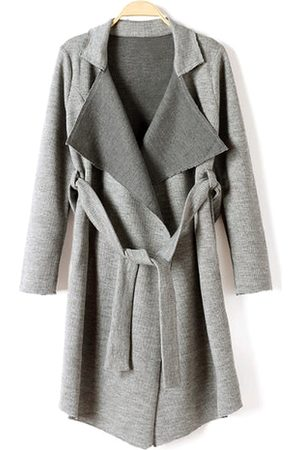 YOINS Women Trench Coats - Belted Knit Trench Coat