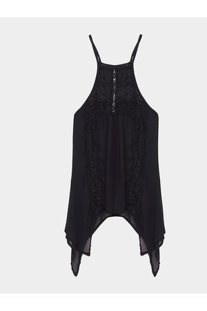 YOINS Sheer Sexy Hollow Lace Insert Cami
