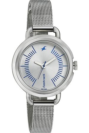 Fastrack Women Silver-Toned Dial Watch 6123SM02