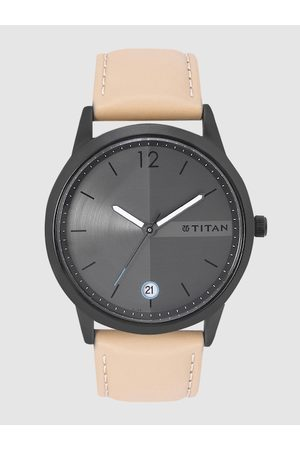 Titan Men Charcoal Grey Analogue Watch NM1806NL01