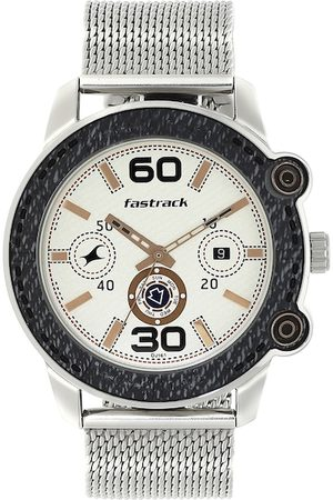 Fastrack Men Off-White Analogue Watch