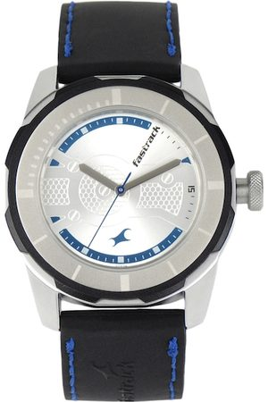 Fastrack Men Silver toned Dial Watch 3099SP02