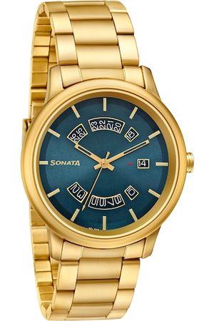 Sonata Men Watches - Men Blue Analogue Watch 7134YM05