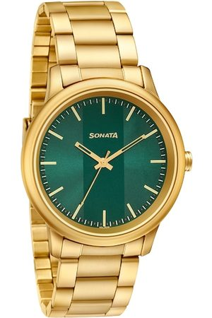 Sonata Men Green Analogue Watch 7134YM04