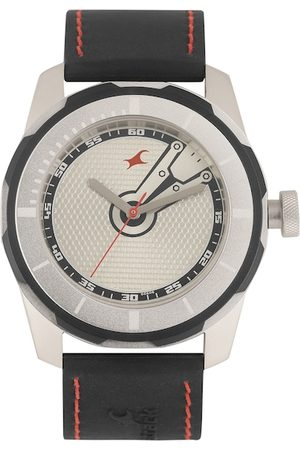 Fastrack Men Watches - Men Off White Textured Analogue Watch NK3099SP03_OR
