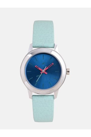 Fastrack Women Blue Genuine Leather Analogue Watch 68008SL07