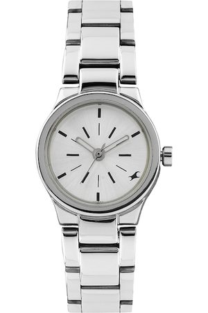 Fastrack Women Silver-Toned Dial Watch 6114SM01
