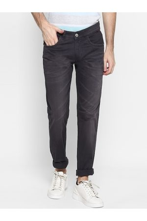 Cantabil Men Black Straight Fit Solid Chinos