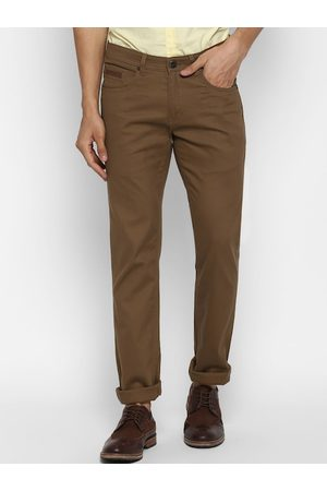 Cantabil Men Brown Straight Fit Solid Chinos