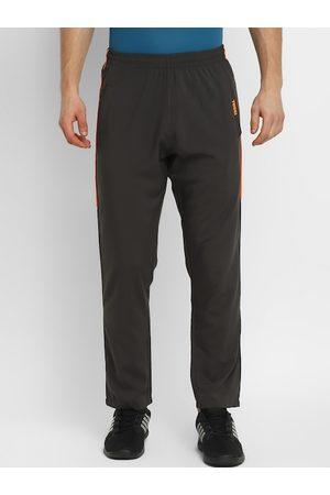 Yuuki Men Grey Solid Slim-Fit Track Pants