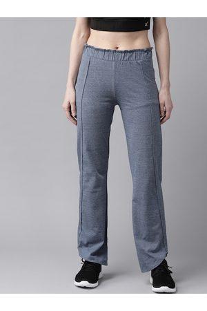 Cayman Women Blue Self Design Pure Cotton Track Pants