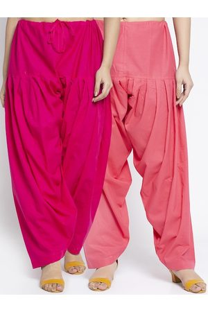GRACIT Women Pack Of 2 Pink Solid Salwars