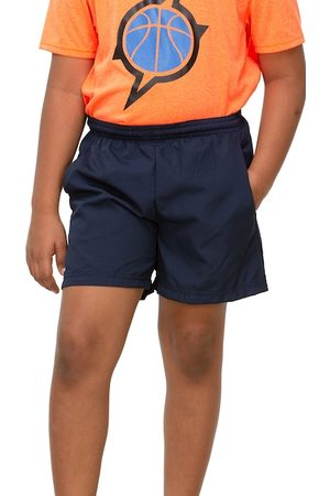 Artengo By Decathlon Unisex Kids Navy Blue Solid Regular Fit Sports Shorts