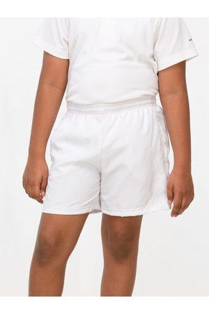Artengo By Decathlon Unisex Kids White Solid Regular Fit Sports Shorts