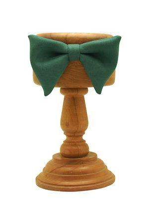 The Tie Hub Bow Ties - Green Solid Pre-Tied Bow Tie
